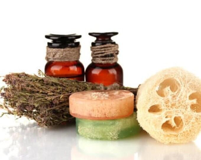 Frankincense + Myrrh Loofah Soap, Exfoliating Body Scrub, Spa Gift for Women, Men's Soap