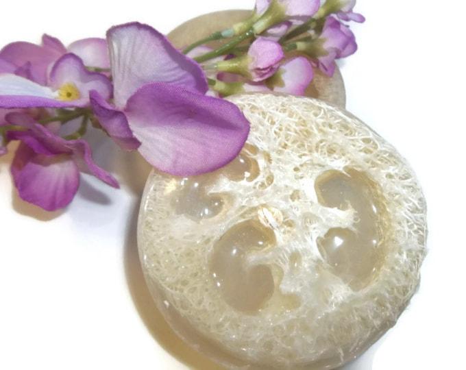 Lavender Loofah Soap, Glycerin Body Scrub, Exfoliating Luffa Sponge