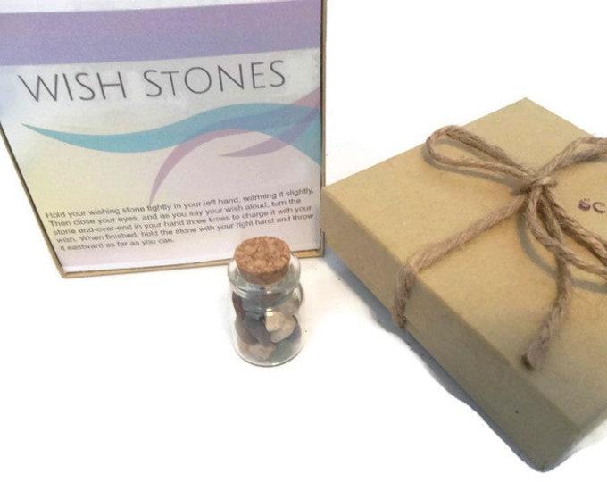 Crystal Bottle Wish Stones, Gemstone Chips Wishing Stone Vial, Mini Crystal Gift Set, Shower Favors