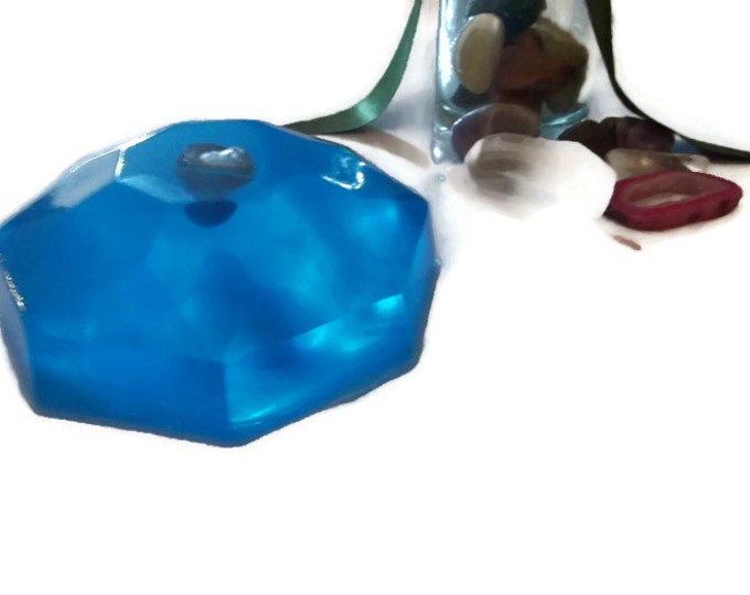 Blue Lace Agate Crystal Soap Bar, Soothing Shower Soap For Men, Gifts for Her