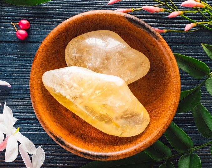 Tumbled Citrine Healing Crystal, Sacral Chakra Crystals, Prosperity Stone, Crystals For Grids, Mental Clarity Stone, Abundance Crystals