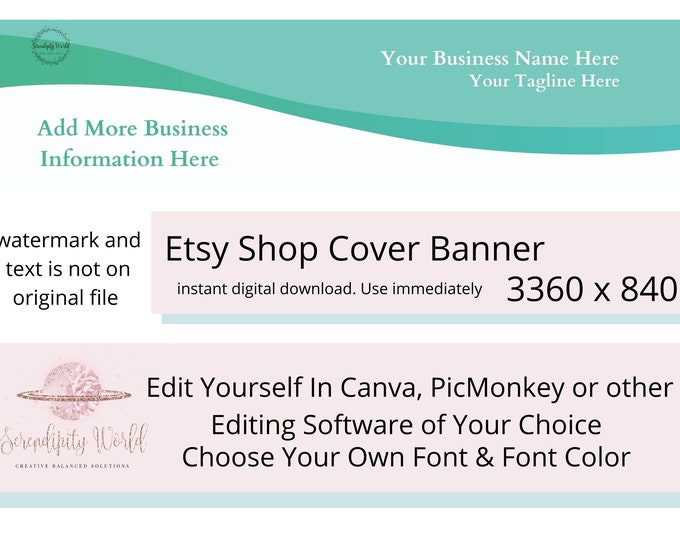 Minimalist Etsy Cover Photo, Simple Etsy Premade Cover Image, Professional Etsy Shop Banner, Business Branding