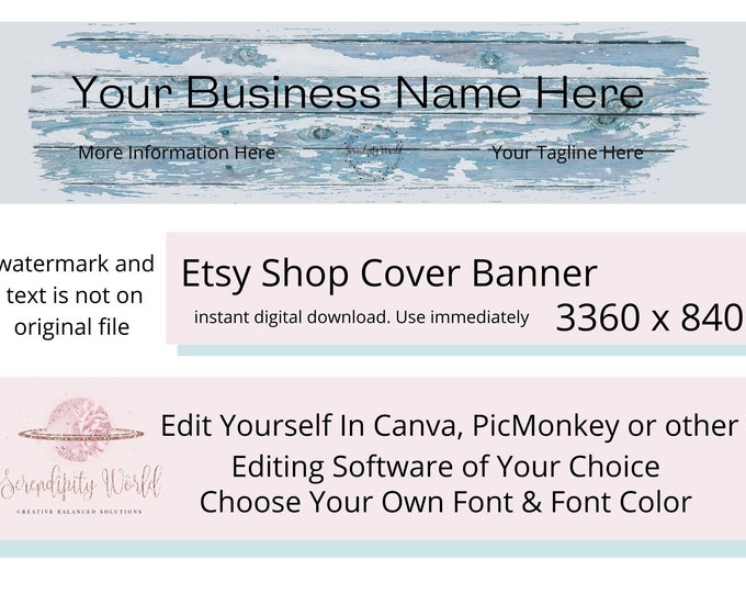 Driftwood Etsy Cover Photo, Rustic Etsy Premade Cover Image, Wood Etsy Shop Banner, Business Branding