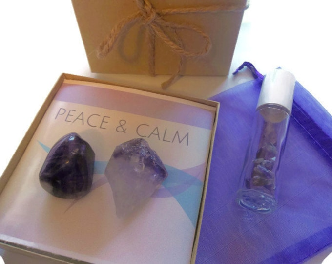 Amethyst Crystal With Gemstone Roller Bottle, Aromatherapy Roll On Perfume