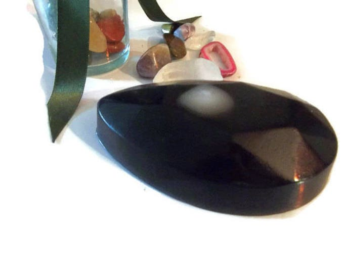 Black Moonstone Crystal Soap, Birthstone Gift, Soap Bar With Crystal Inside