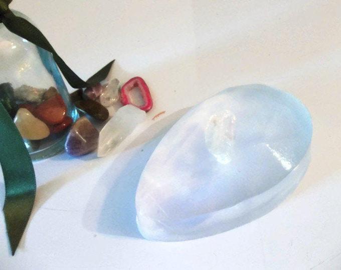 Quartz Crystal Soap Bar, Soap With Crystal Inside, Birthstone Gift