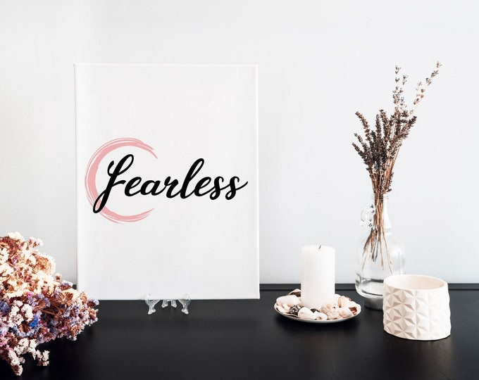 Fearless Typography Focus Word Art Print, Printable Word of the Year, Motivational Mantra, Minimalist Word Art, Vision Board Artwork