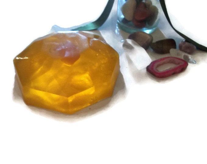 Tiger Eye Crystal Soap Bar With Gemstone Inside, Unique Birthday Gift