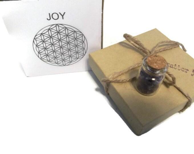 Joy Crystal Grid Set, Amethyst With Clear Quartz, Crystal Bottle Stones