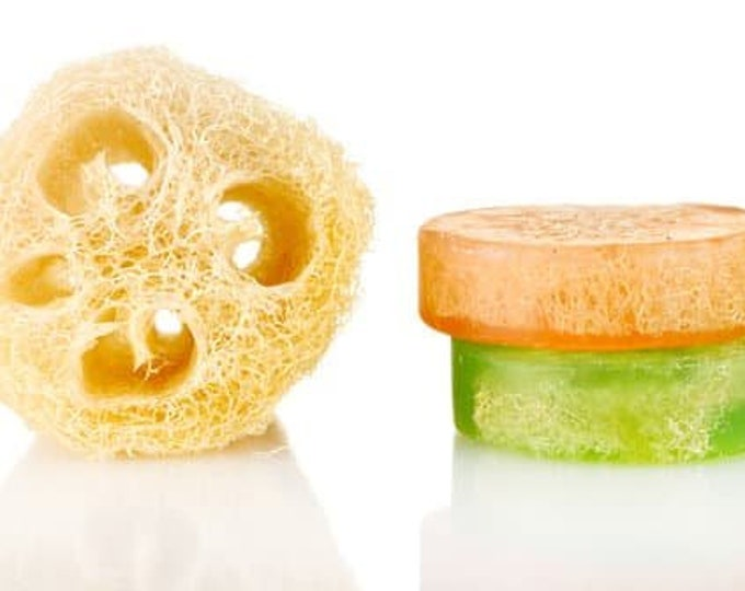 Dry Skin Exfoliating Loofah Soap, Round Soap Bars For Bath and Shower, Excellent Foot Scrub