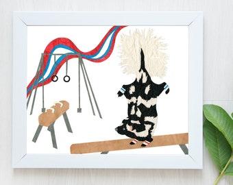 PRE-ORDER-Skunk Print-Spotted Skunk-Spotted Skunk Print-Skunk Art-Gymnastics Print-Gymnastics Art-Team USA