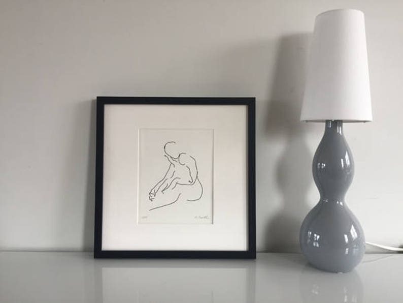 Nursery Wall Art Mother with Baby Line Drawing Art Prints image 0
