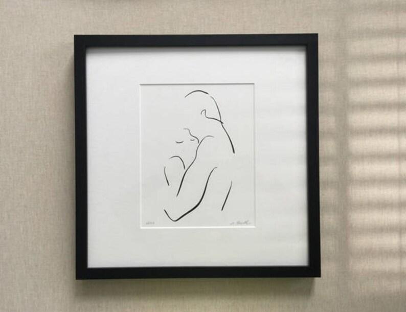 Refuge Romantic Art Print Soulmate Lover Bedroom Decor image 0