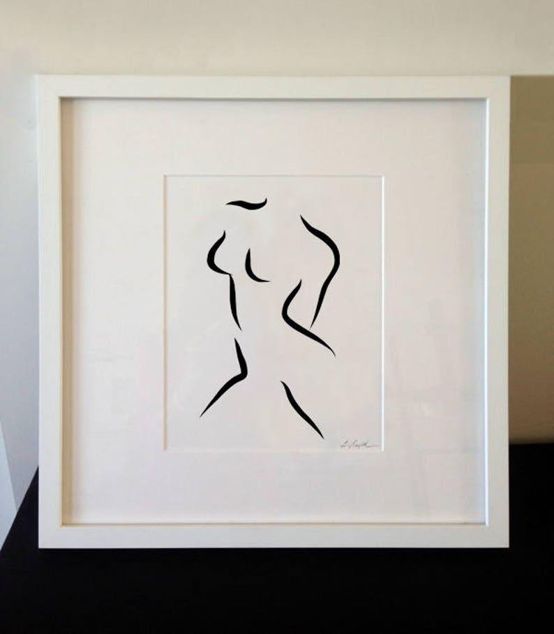 Modern Nude Art Large Black and White Print Wall art Modern image 0