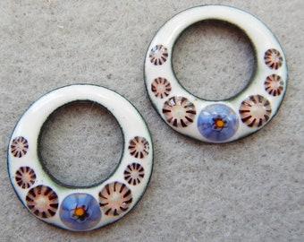 Enamel Jewelry Findings- Earring Hoops  - 2018 F-336