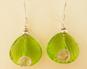 Earrings, with Artisan made Lampwork Beads