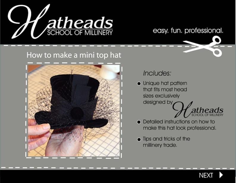 How to make a mini top hat pdf E-book pattern  0f8e5830f16