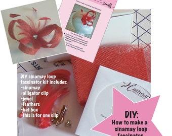 How to make a sinamay loop fascinator kit - cd hat making fascinator kit - diy sinamay kit