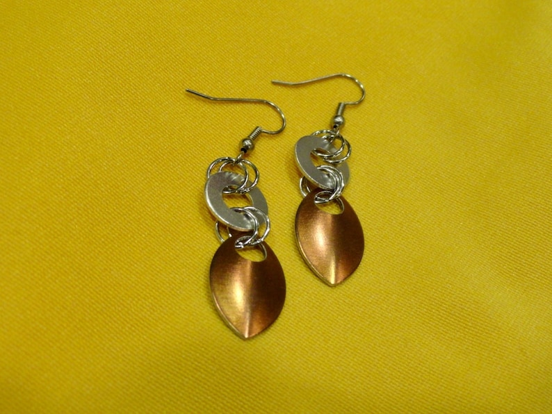 Goddess silver and copper aluminum earrings Style 400 image 0