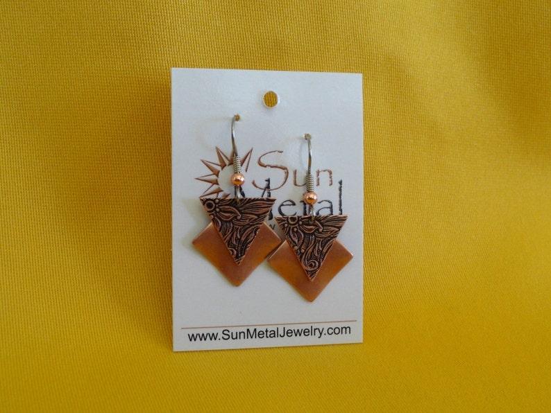 Girl power copper earrings Style 483C image 0