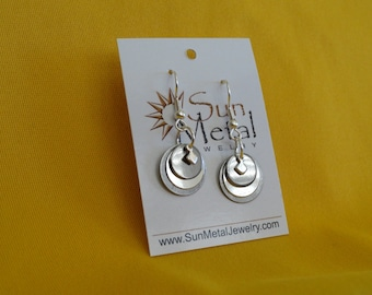 Smoke and mirrors silver earrings (Style #241)