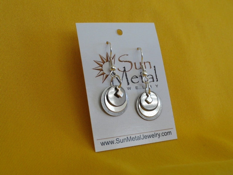 Smoke and mirrors silver earrings Style 241 image 0
