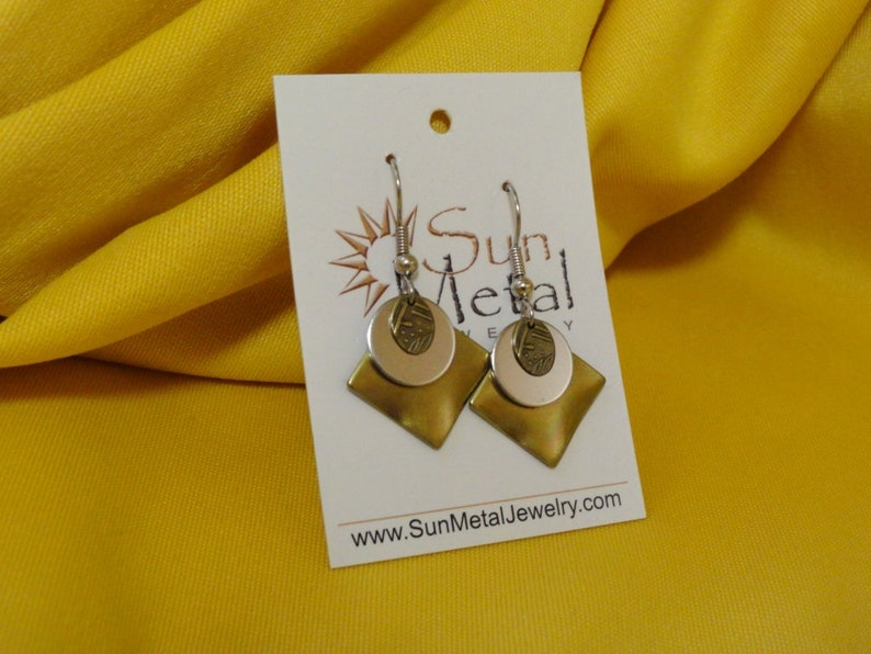 Gold and silver goes with everything earrings Style 359 image 0