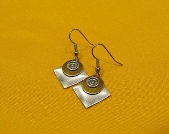 Coco Loco silver and gold earrings (Style #228G)