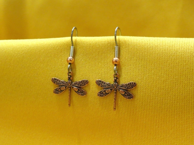 I love copper dragonflies earrings Style 459 image 0