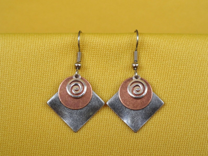 Coco Loco silver and copper earrings Style 228C image 0