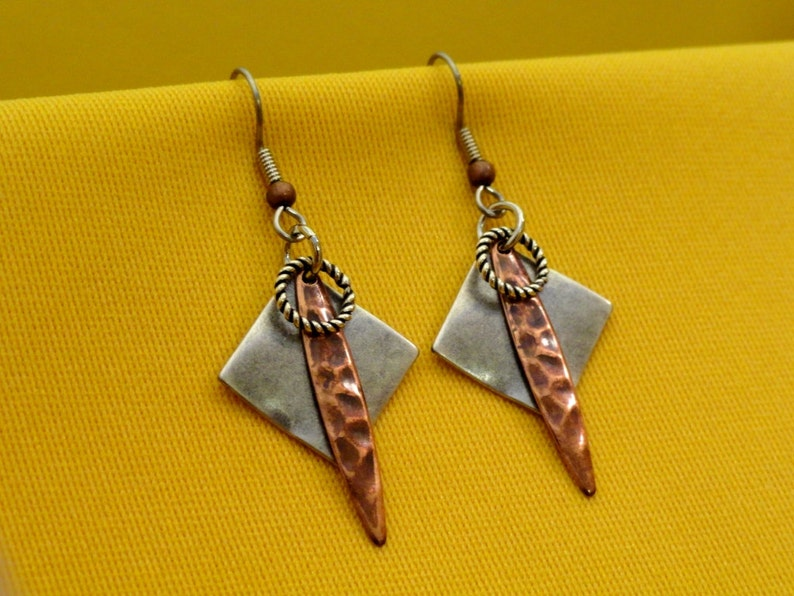 I'm too funky for my silver and copper earrings Style image 0