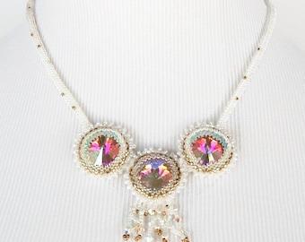 A Bride's Snow Dreams Sparkle Rivoli Necklace