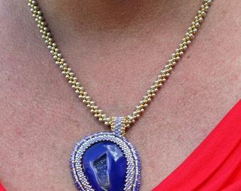 Purple Passion- Gold/Silver Druzy Necklace