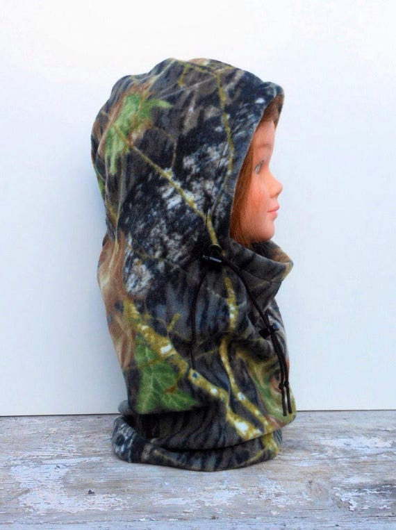 Mossy Oak Camouflage Balaclava Fleece Hat - Size For Youth - Ski Mask -  Child's Hat - Unique Gift - Winter Hat - Hunting - Camo - Outdoors