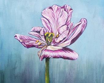 Tulip Acrylic Painting Original