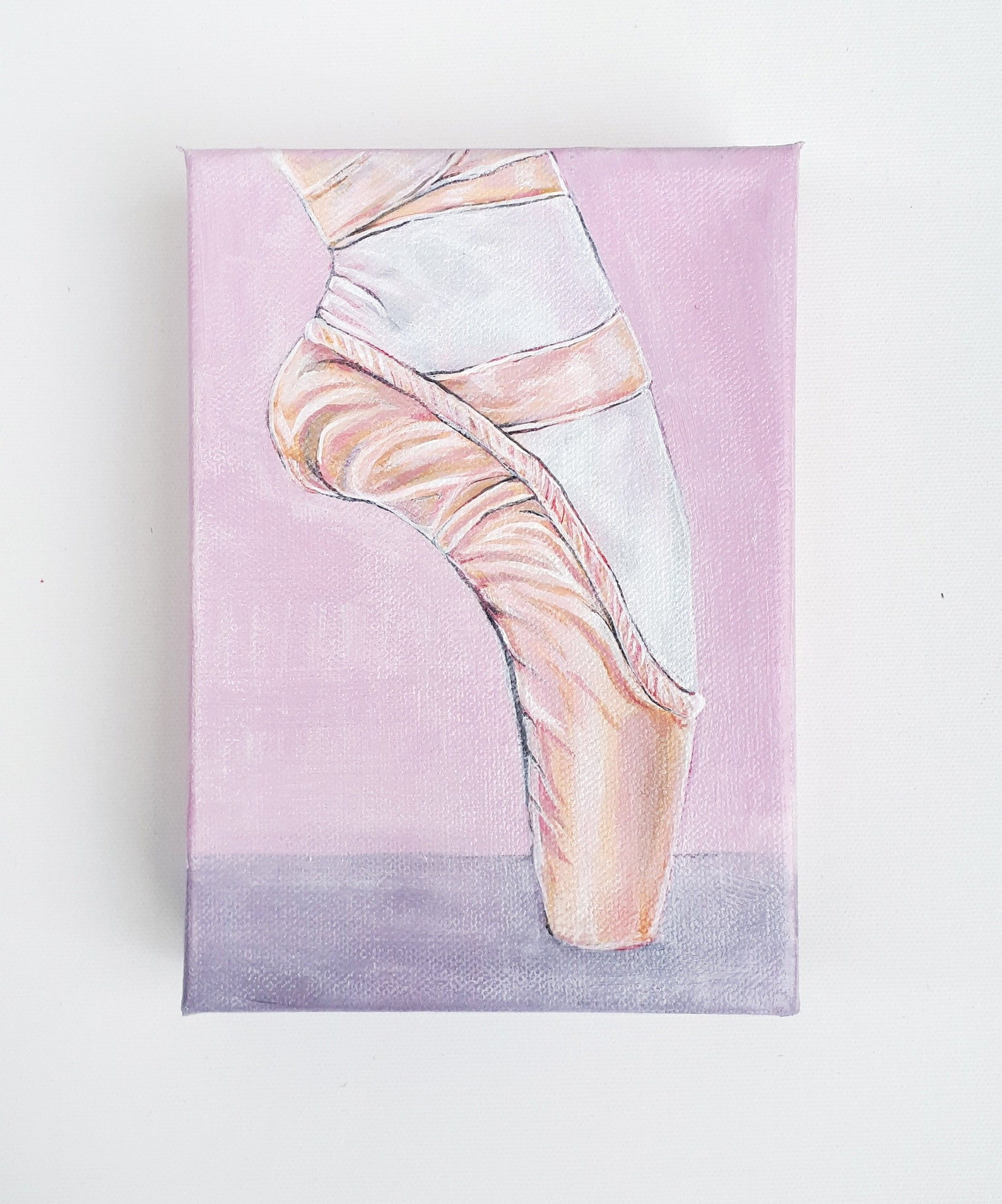 ballet pointe shoe - original acrylic painting