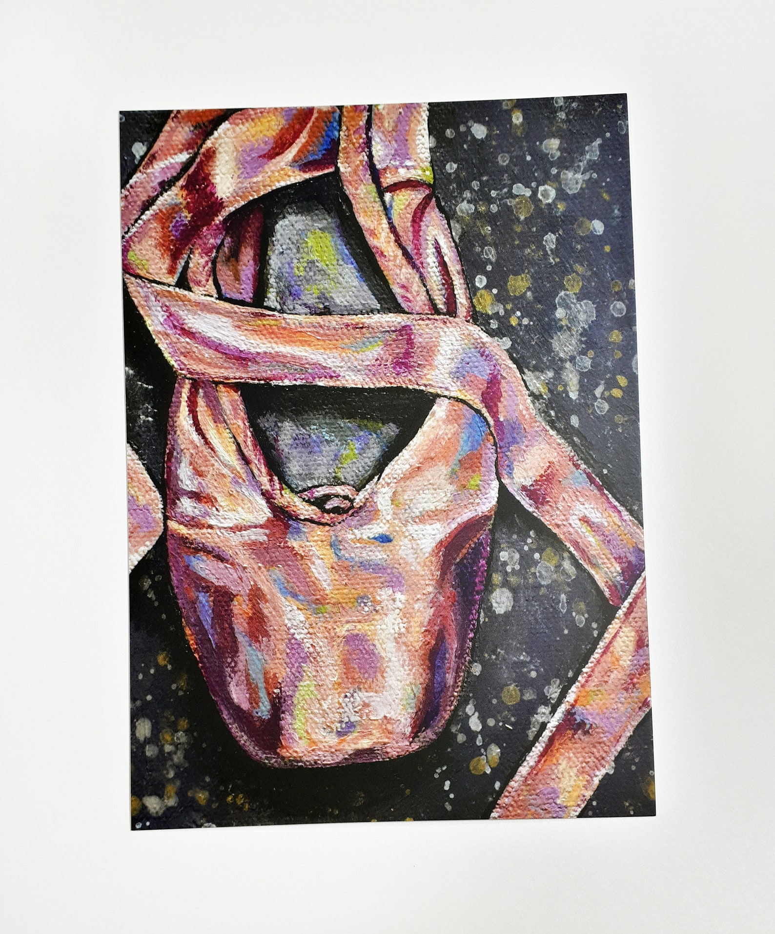 ballet pointe shoe art print