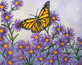 Monarch Butterflies in the Aster