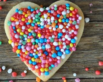 Heart Disco Biscuit Digital Print