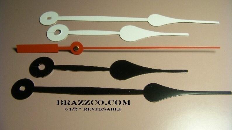 "5 1//2/"" Metal Hands For Brazzco Made IN USA Quartz Movement"