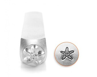 Starfish Stamp - 6mm METAL stamps -Beach Stamps =IMPRESSART