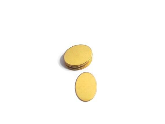 Small Oval Blanks - 24G Brass blanks - Tumbled blanks - hand stamping  blanks -metal blanks -stamping blanks - earring blanks