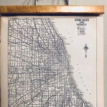 Vintage Chicago Map  Original Vintage Atlas Black and White Housewarming or Office Gift 1920's
