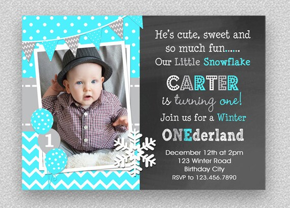 winter wonderland birthday invitation winter wonderland 1st