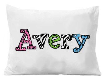 Cheetah Zebra Personalized Name Pillowcase Cheetah Zebra Personalized Pillow Case