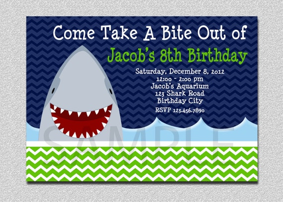 shark birthday invitation shark birthday party invitation shark