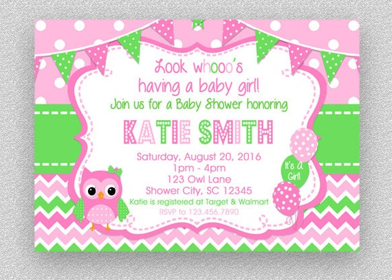 Owl baby shower invitation girl baby shower invitation etsy image 0 filmwisefo
