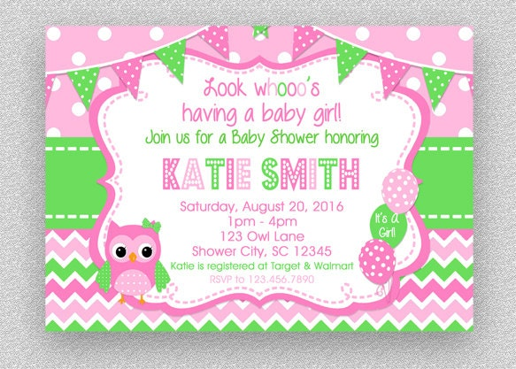 Owl baby shower invitation girl baby shower invitation etsy zoom filmwisefo