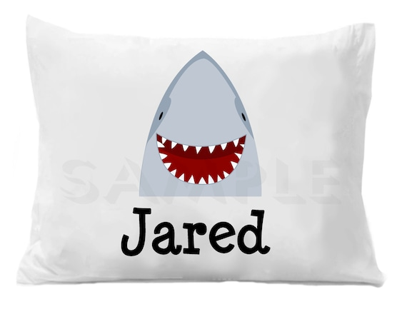 dd0f69a64f9 Shark Pillow Case Personalized Pillowcase by The Trendy Butterfly ...