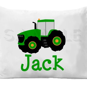 Personalized Kid/'s Tractor Arlo Pillowcase Microfiber Polyester 20 by 30 Inches Customized Gifts for Kids